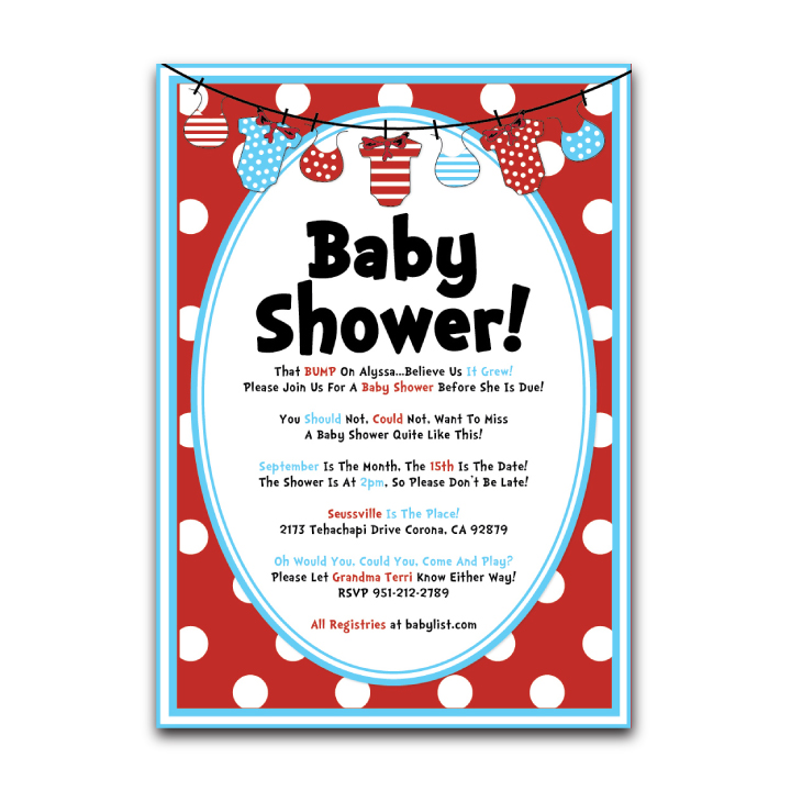 Baby Shower Invite – Dr. Seuss