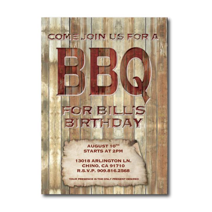 BBQ Birthday Invite