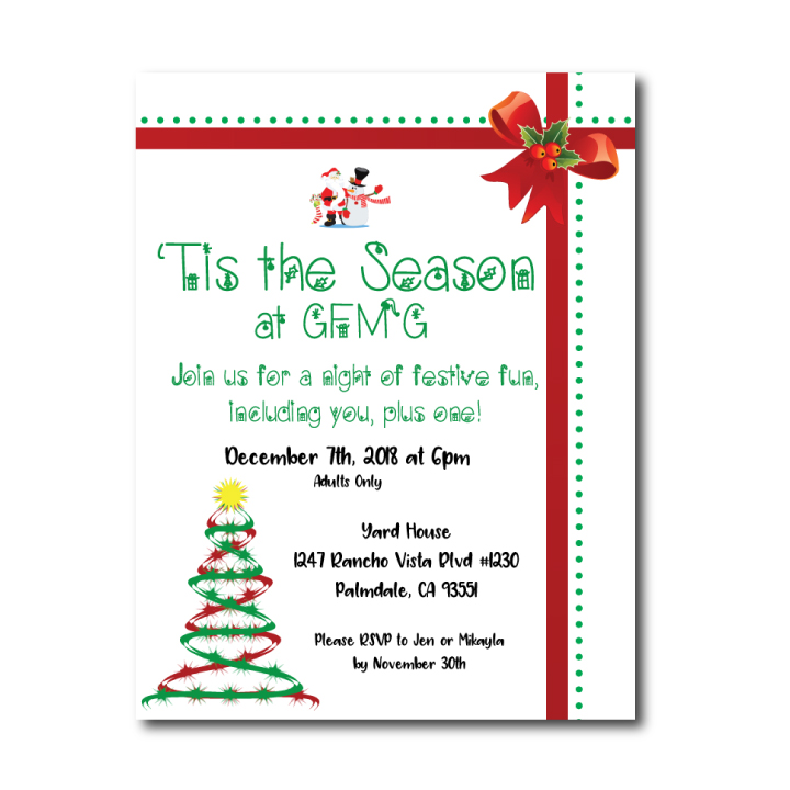 Christmas Office Party Invite